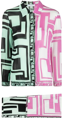 Emilio Pucci Pre-Owned 2000s Geometric-Print Shirt And Skirt Set