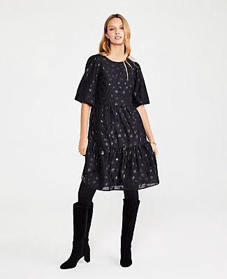 Ann Taylor Petite Tiered Mini Shift Dress