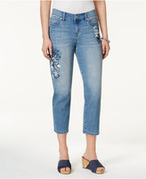 Style&Co. Style & Co Printed Capri Jeans, Created for Macy's