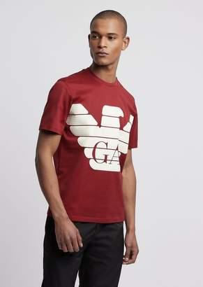 Emporio Armani R-Ea-Mix T-Shirt With Rubberized Maxi Logo