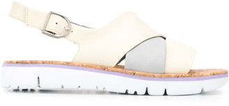 Camper TWS two-tone sandals