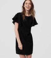 LOFT Petite Pom Pom Shift Dress