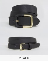 Asos 2 Pack Skinny Waist Belt and Jeans Belt
