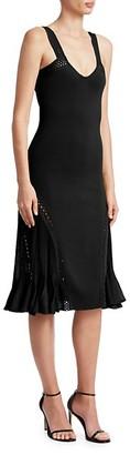 Roberto Cavalli Knit Scoopneck Fit--Flare Dress
