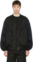 Lad Musician Black and Navy Ma-1 Bomber Jacket