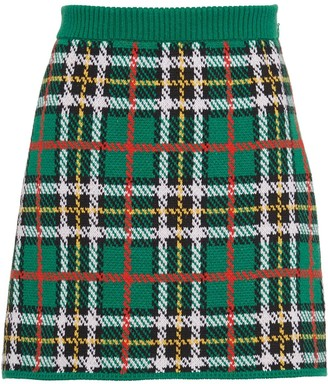 Miu Miu Plaid Mini Skirt