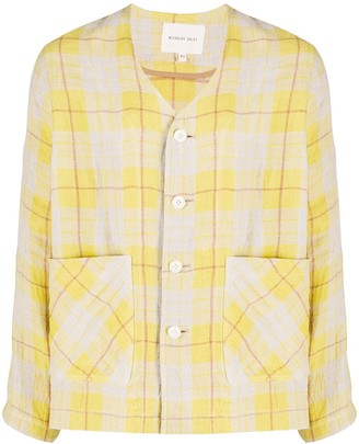 Nicholas Daley Two Pocket Checked Shirt