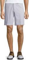 Peter Millar Seersucker Cotton Shorts, Gray