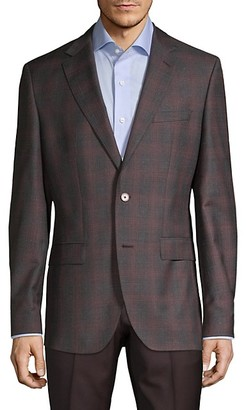 HUGO BOSS Lanificio Tesse Biella Plaid Wool Sportcoat
