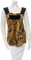 Etro Silk Abstract Print Top