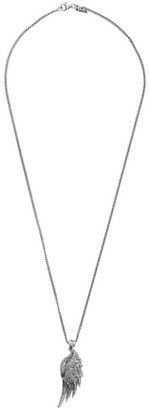 Emanuele Bicocchi Silver Wing Pendant Necklace