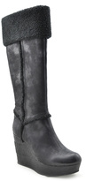 Sbicca Black Chippy Wedge Boot