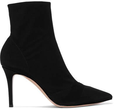 Gianvito Rossi 85 Stretch-shell Sock Boots - Black