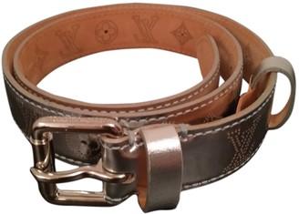 Louis Vuitton Silver Leather Belts