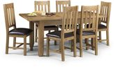 Linea Rustic Extending Dining Table + 4 Chairs