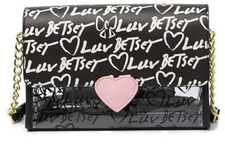 Betsey Johnson LUV BETSEY BY Macyy Logo Printed Crossbody Bag