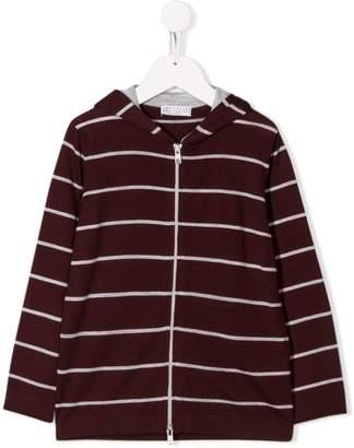Brunello Cucinelli Kids stripe pattern hoodie