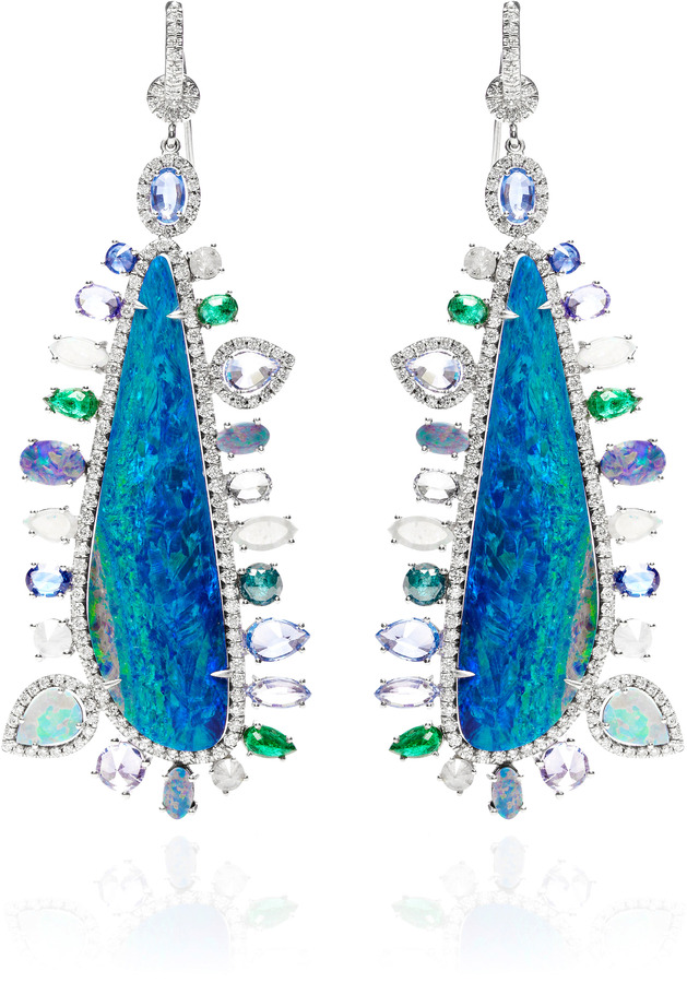 Nina Runsdorf Opal And Multi-Stone Accent Earrings
