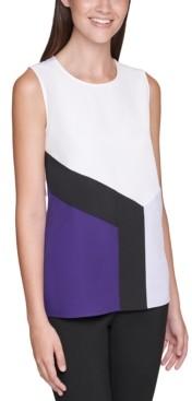 Calvin Klein Colorblocked Shell Top