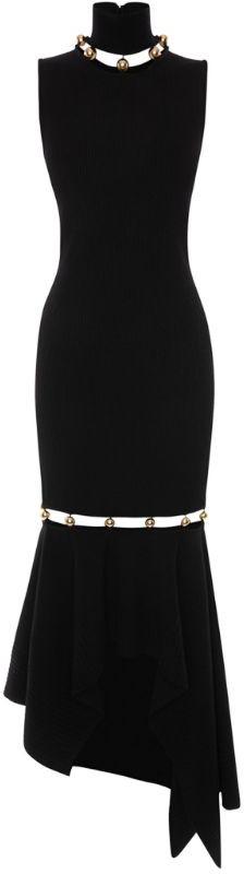 Alexander McQueen Metallic Detail Dress
