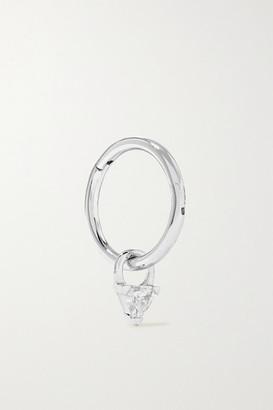 Maria Tash 18-karat White Gold Diamond Hoop Earring - one size