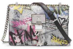 Thumbnail for your product : DKNY Elissa Graffiti Small Leather Crossbody