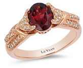 LeVian 0.17 TCW Rhodolite White Diamonds, 1.40 TCW Gems and 14K Strawberry Gold Ring