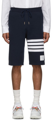 Thom Browne Navy 4-Bar Classic Sweat Shorts