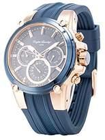 English Laundry Men's Watch EL7599RG236-125 Gold Tone, Dial, Rubber Strap