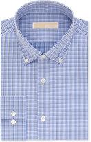 MICHAEL Michael Kors Men's Classic/Regular Fit Blue Check Dress Shirt
