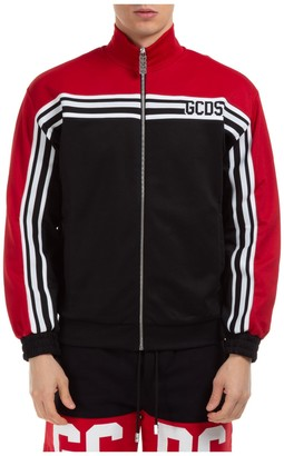 GCDS Colour Block Logo Striped Track Jacket