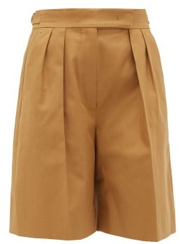 Max Mara Lux Shorts - Womens - Tan