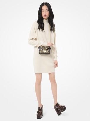 MICHAEL Michael Kors Ribbed Turtleneck Sweater Dress