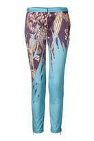 Matthew Williamson Plum/China Blue Pants with Ankle Zip