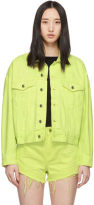 Alexander Wang Yellow Denim Game Jacket