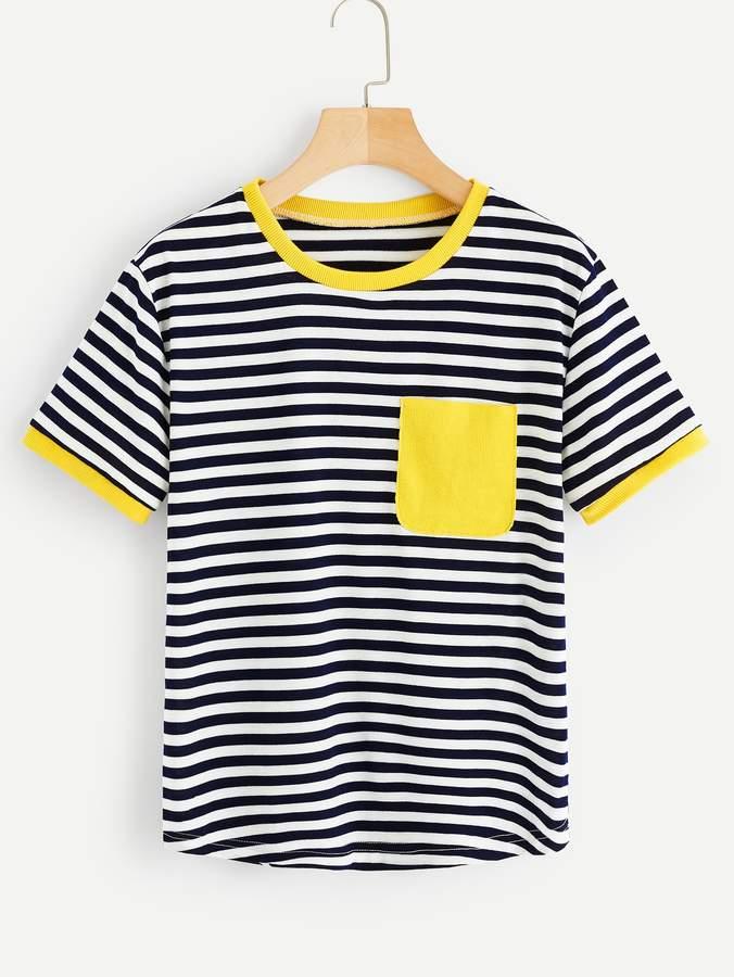 28df083595 Contrast Pocket Tee Women - ShopStyle