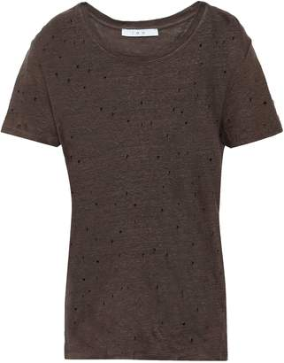 IRO Clay Distressed Linen-jersey T-shirt