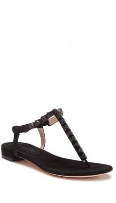 Stuart Weitzman Esme Studded Flat Thong Sandal
