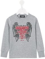 DSQUARED2 wings print sweatshirt