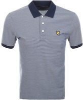 Lyle & Scott Feeder Stripe Polo T Shirt Navy