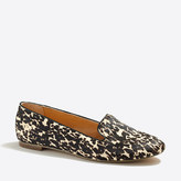 J.Crew Factory Cora leopard calf hair loafers