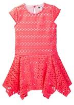 Petit Lem Laser-Cut Dress (Toddler & Little Girls)