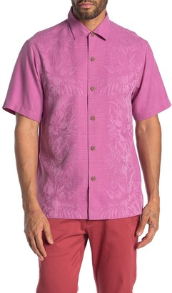 Tommy Bahama Kamari Border Classic Fit Silk Hawaiian Shirt