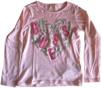 GUESS Pink Cotton Tops