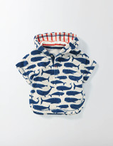 Whales Towelling Throw-on Sandown Blue Whales Baby Boden