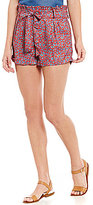Soulmates Ditsy Floral Tie-Detail Cuffed Shorts