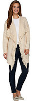 C. Wonder As Is Cascade Front Long Sleeve Cardigan with Fringe