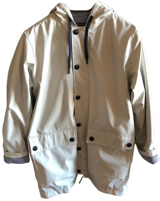 Petit Bateau Grey Trench Coat for Women