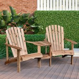 Adirondack Mckelvy Fir Chair with Table Rosecliff Heights