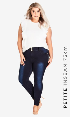 City Chic Asha Petite Highrise Skinny Jean